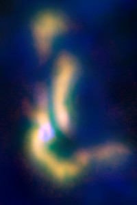 The B5 complex of gas, in the process of becoming a multiple-star system. Credit: NRAO/AUI/NSF