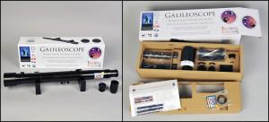 The Galileoscope Telescope kit. Courtesy Galilescope, LLC.