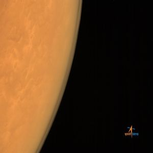 The atmosphere of Mars as seen form the MOM Color Camera. Courtesy ISRO.