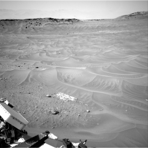 A sea of dunes, as seen by Curiosity Rover's right NAVCAM, taken on Sol 753. Courtesy NASA/JPL