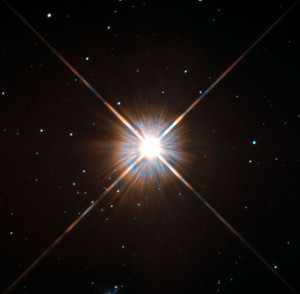 Proxima Centauri as seen by Hubble Space Telescope.
