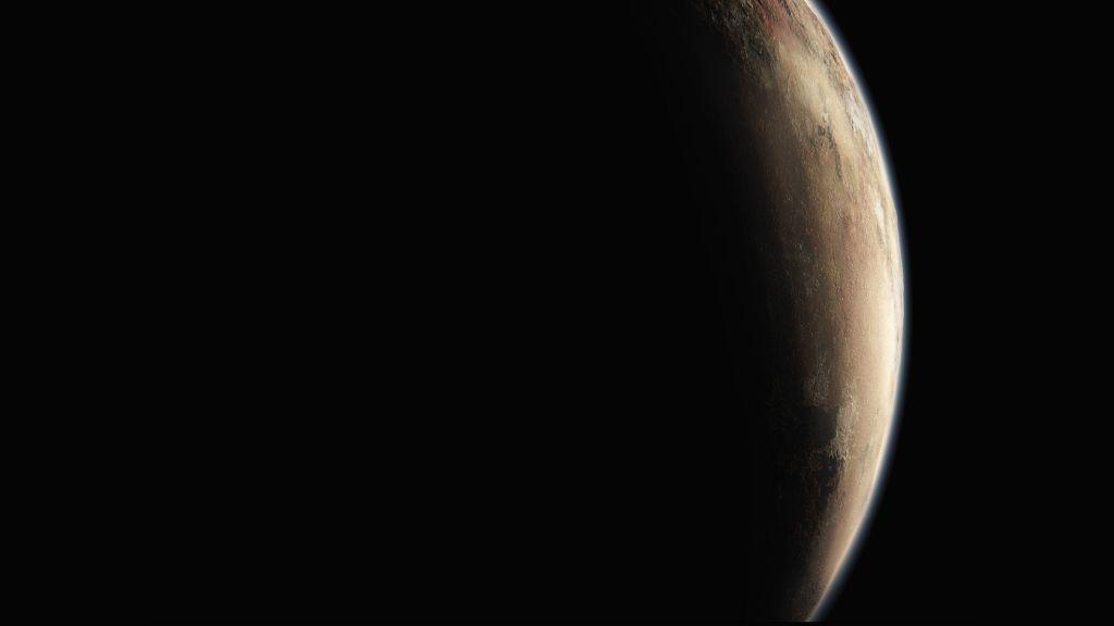 Artist's impression of Pluto. Courtesy New Horizons mission.