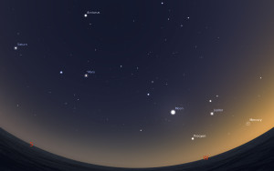 Planets in the western sky.