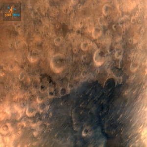 The first image of Mars from MOM. Courtesy ISRO.