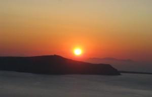 Sunset off of Santorini. Copyright 2010, Carolyn Collins Petersen