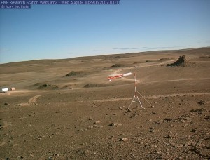 Research station at Devon Island, Nunavut, Canada. Courtesy Mars Institute.